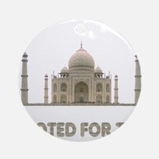 I Voted For Taj. Ornament (Round)