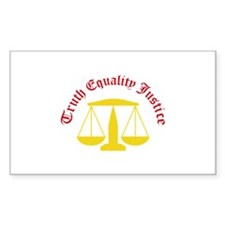Truth Equality Justice Decal