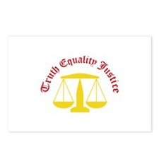 Truth Equality Justice Postcards (Package of 8)