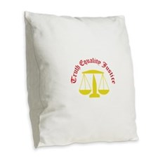 Truth Equality Justice Burlap Throw Pillow