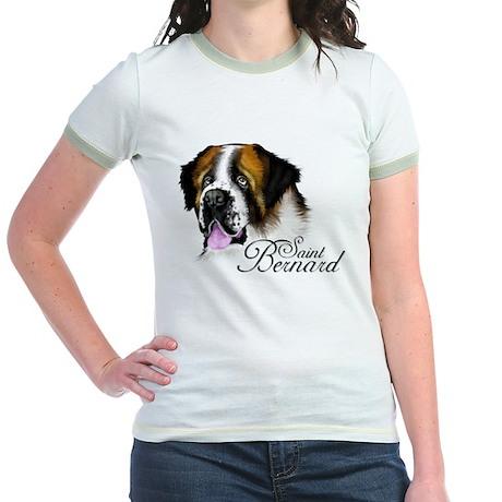 SAINT BERNARD DOG Jr. Ringer T-shirt