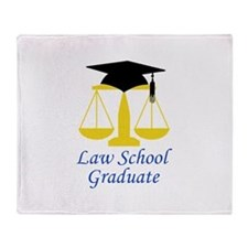 Law School Graduate Throw Blanket