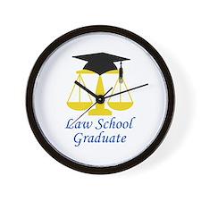 Law School Graduate Wall Clock