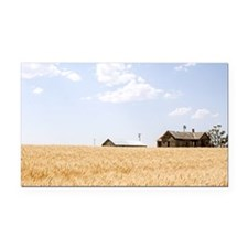 Wheat Field Ripening Rectangle Car Magnet