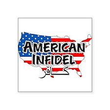 """Cool Infidel in arabic Square Sticker 3"""" x 3"""""""
