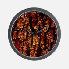 Tree Bark Structure,brown Wall Clock