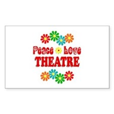 Peace Love Theatre Decal