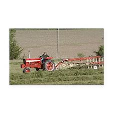 Tractor Raking Hay Rectangle Car Magnet