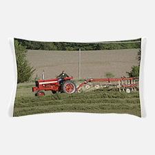 Tractor Raking Hay Pillow Case