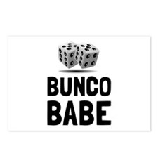 Bunco Babe Dice Postcards (Package of 8)