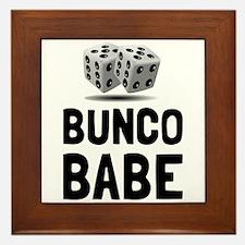 Bunco Babe Dice Framed Tile