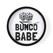 Bunco Babe Dice Wall Clock