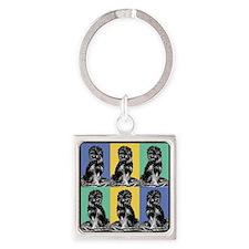 Affenpinscher Pop Art Keychains