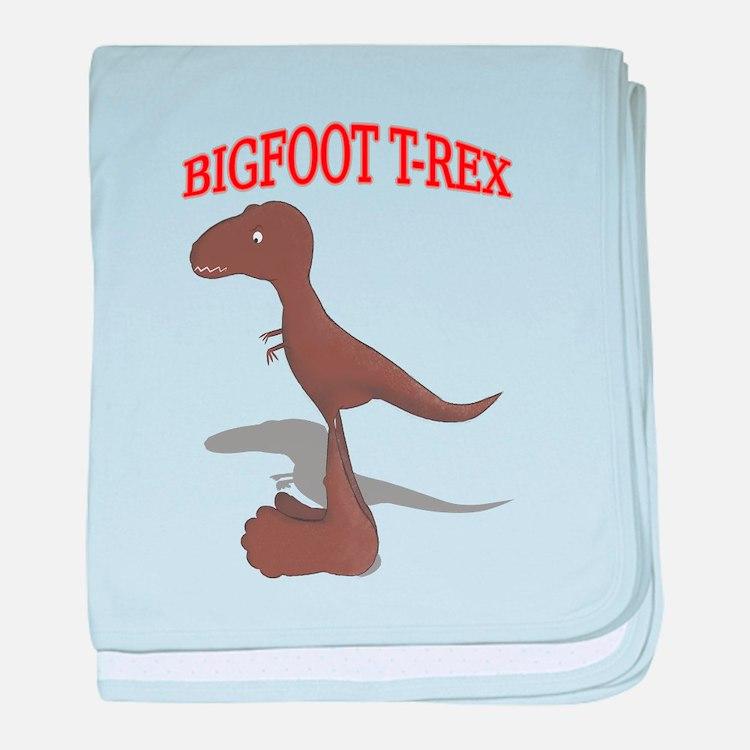 Bigfoot T-Rex baby blanket