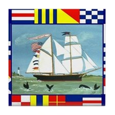 Maritime Signal Flags Tile Coaster