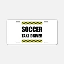 Soccer Taxi Driver Aluminum License Plate