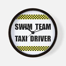 Swim Team Taxi Driver Wall Clock