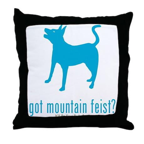Mountain Feist Throw Pillow