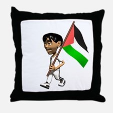 Palestine Boy Throw Pillow