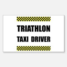Triathlon Taxi Driver Decal