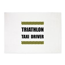 Triathlon Taxi Driver 5'x7'Area Rug