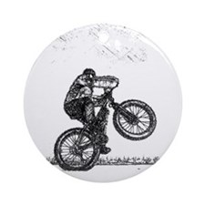 Wheelie Ornament (Round)