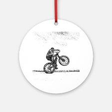 Wheelie Ornament (Round)