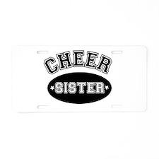 Cheer Sister Aluminum License Plate