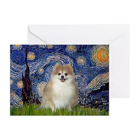 Starry Night & Pomeranian Cards (Pk of 10)