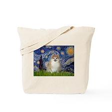 Starry Night & Pomeranian 1 Tote Bag