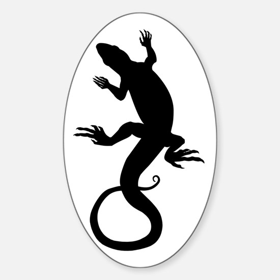 Lizard Gifts Oval Decal