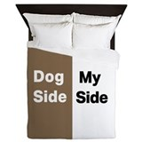 Dog side my side Duvet Covers