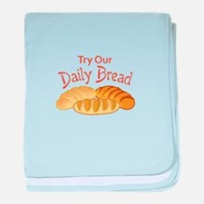 TRY OUR DAILY BREAD baby blanket