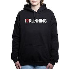 I Heart Running Women's Hooded Sweatshirt