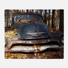 Sad Old Blue Chevy Throw Blanket