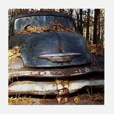 Sad Old Blue Chevy Tile Coaster