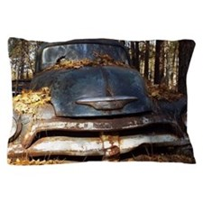 Sad Old Blue Chevy Pillow Case