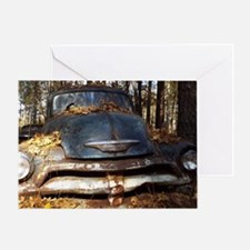 Sad Old Blue Chevy Greeting Card