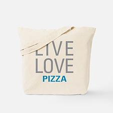 Live Love Pizza Tote Bag