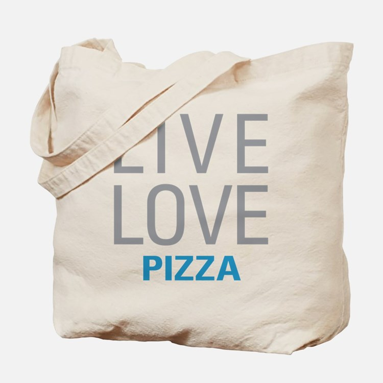 Live Love Pizza Tote Bag