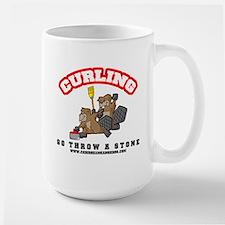 Curling Beavers Super Mug