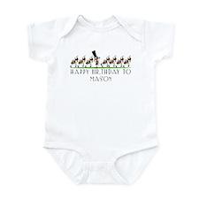 Happy Birthday Mason (ants) Infant Bodysuit