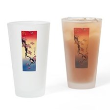Hokusai Kingfisher Apple Blossom Su Drinking Glass