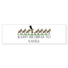 Happy Birthday Xavier (ants) Bumper Bumper Sticker
