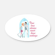 TRUE LOVE STORIES Oval Car Magnet