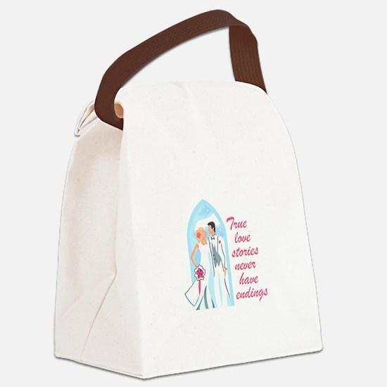 TRUE LOVE STORIES Canvas Lunch Bag