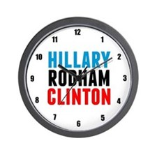 Hillary Rodham Clinton Wall Clock