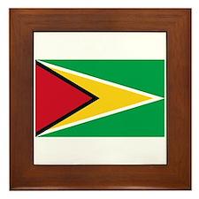 Guyana Flag Framed Tile