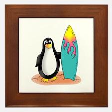 PENGUIN SURFER Framed Tile