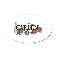 Garden Oval Car Magnet